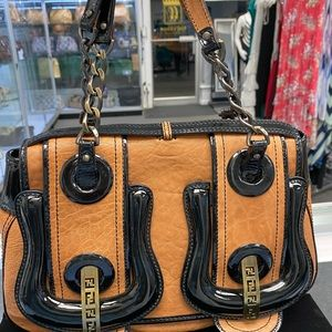Fendi Bags - Fendi Double Buckle leather bag